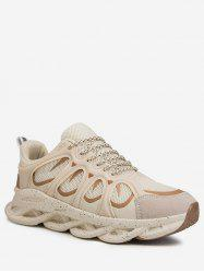 Color Spliced Design Breathable Sport Sneakers -