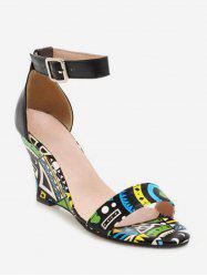Bohemia Style Summer Wedge Heel Ankle Strap Sandals -