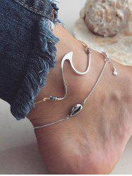 2PCS Shell Geometric Anklets -