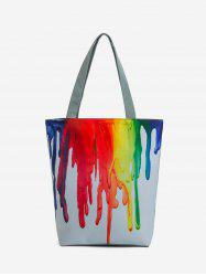 Paint Print Pattern Canvas Tote Bag -