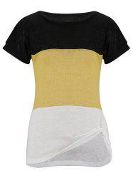 Twisted Color Block Knit Tee -