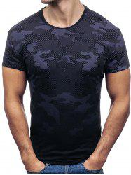 Short Sleeves Camouflage Print T-shirt -