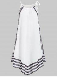 Asymmetric Tunic Two Tone Cover Up -