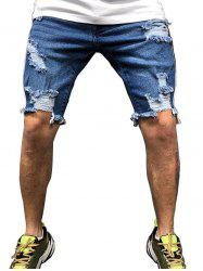 Casual Style Destroy Jeans Shorts -