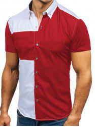 Two Tone Panel Casual Shirt -