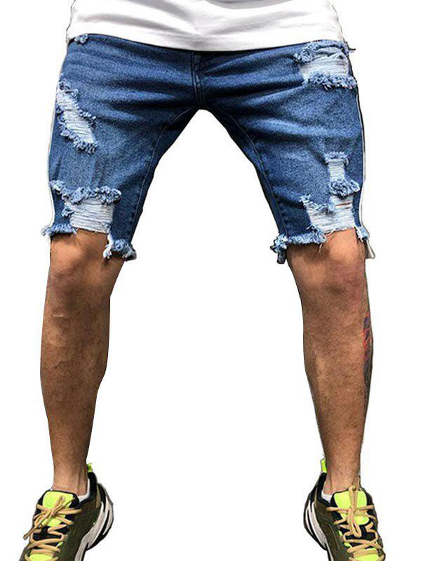 Buy Casual Style Destroy Jeans Shorts