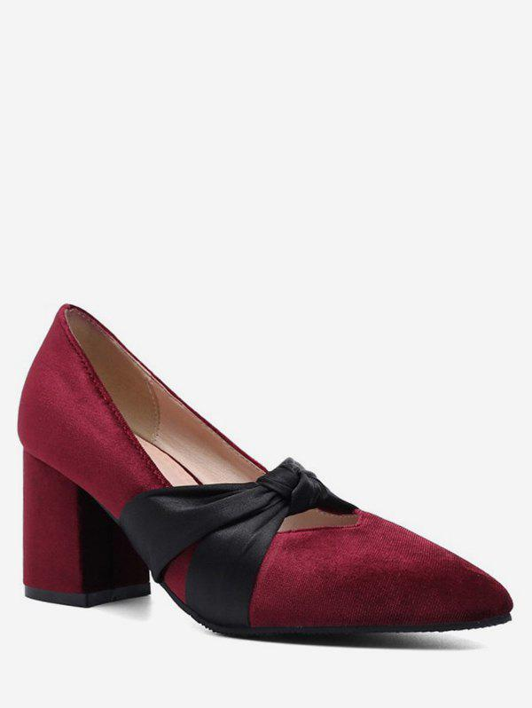 Chic Bowknot Decoration Chunky Heel Pumps