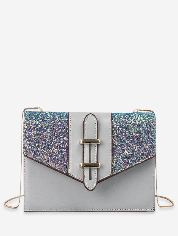 Latest Sequined Square Chain Shoulder Bag