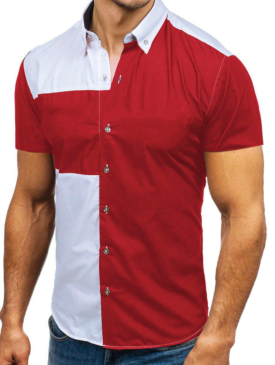 Outfits Two Tone Panel Casual Shirt