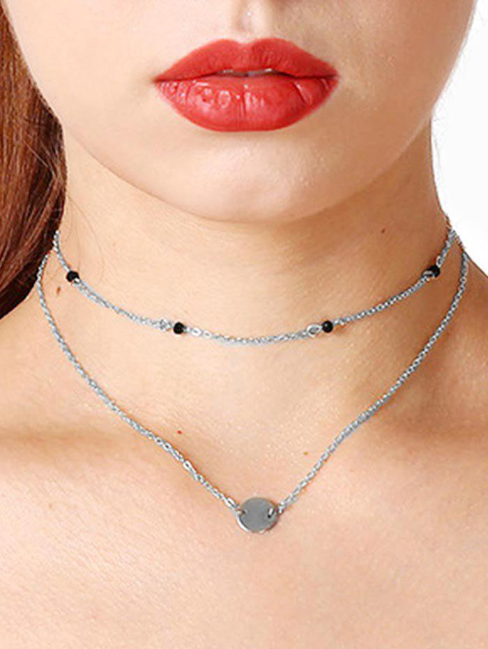 Affordable Sequin Double Layer Choker Necklace
