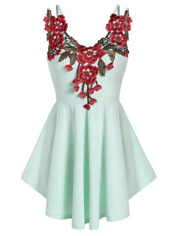 Cami Flare Embroidered Tank Top