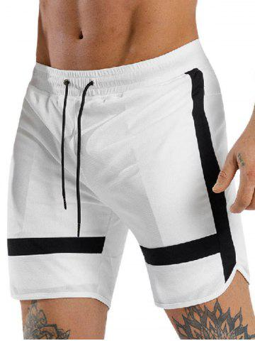 Color Spliced Leisure Drawstring Shorts