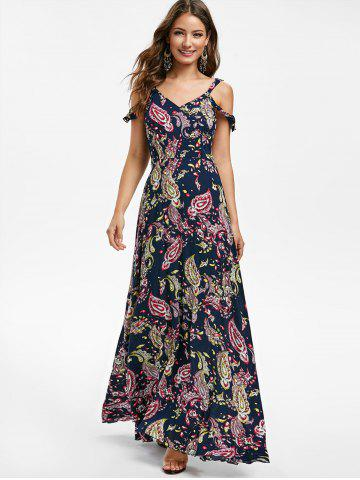 279ef4d2cb9 Graphic Open Shoulder Maxi Dress