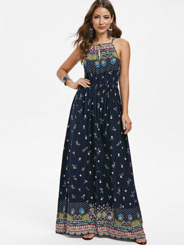 Bohemian Flower Sleeveless Dress