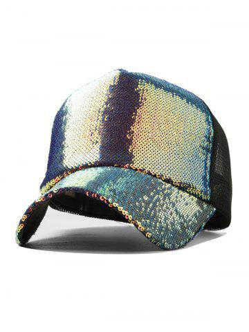 Holographic Sequined Baseball Cap