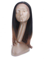 Long Straight Synthetic Wig with Lace Front -