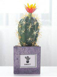 Home Decoration Artificial Plant Potted Flower Ball Cactus -