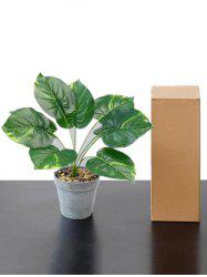 Home Decor Artificial Plant Potted Palm Leaves -