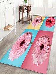 Flowers Patchwork Pattern Water Absorption Area Rug -