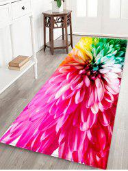 Colorful Flower Pattern Water Absorption Area Rug -