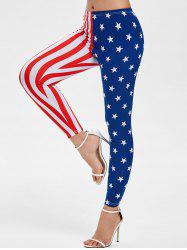 Ninth Flag Print Skinny Leggings -