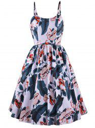 Fit And Flare Printed Cami Dress -