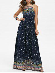 Bohemian Flower Sleeveless Dress -