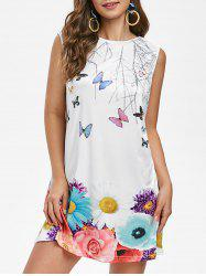 Butterfly Floral Tunic Dress -