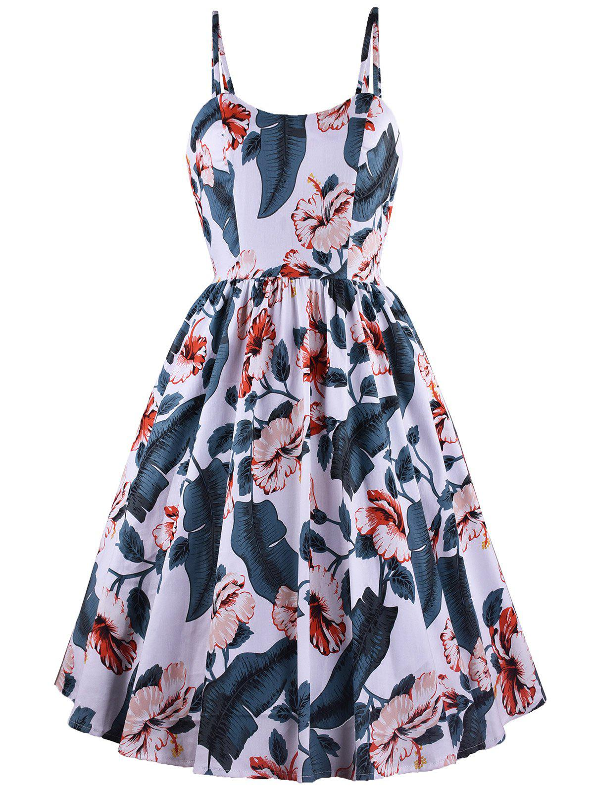 Fashion Fit And Flare Printed Cami Dress
