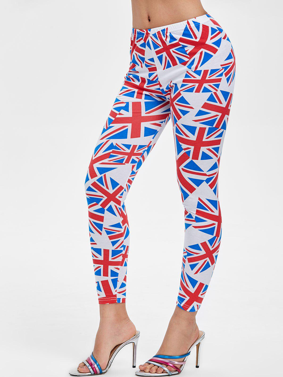Shop Ninth Flag Print Skinny Leggings