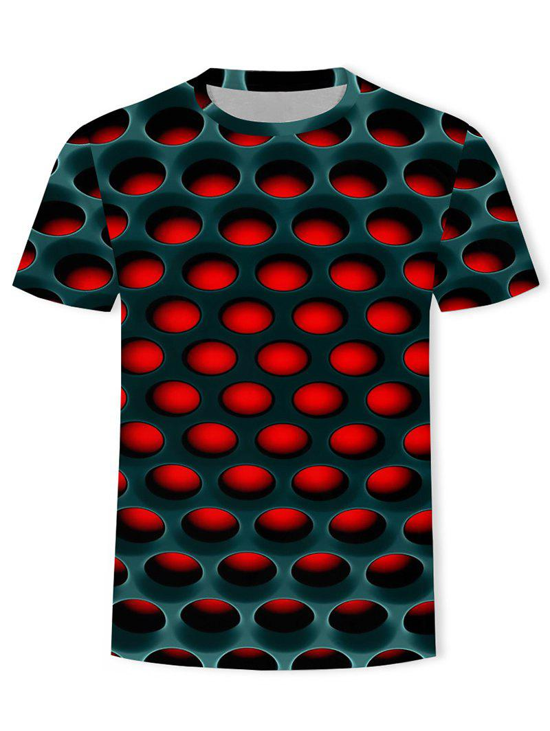 Chic Burning Honeycomb Briquette Graphic Tee