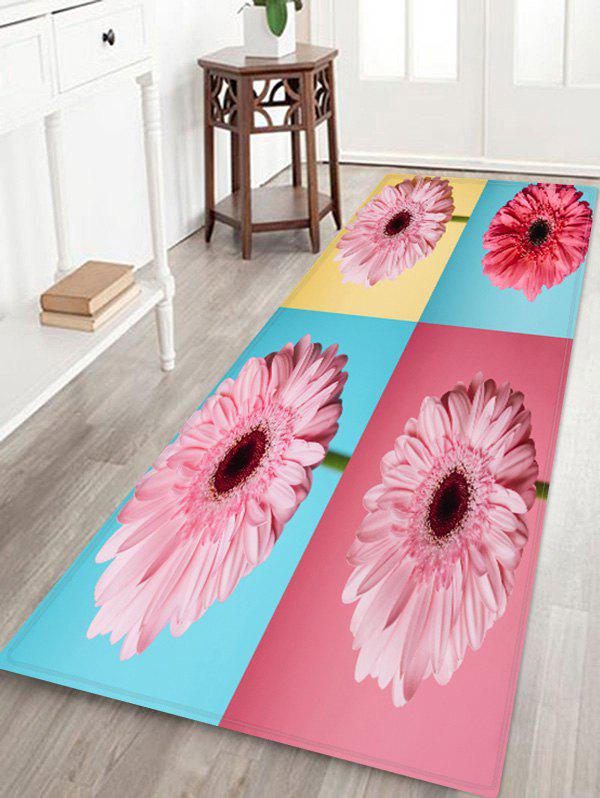 Cheap Flowers Patchwork Pattern Water Absorption Area Rug