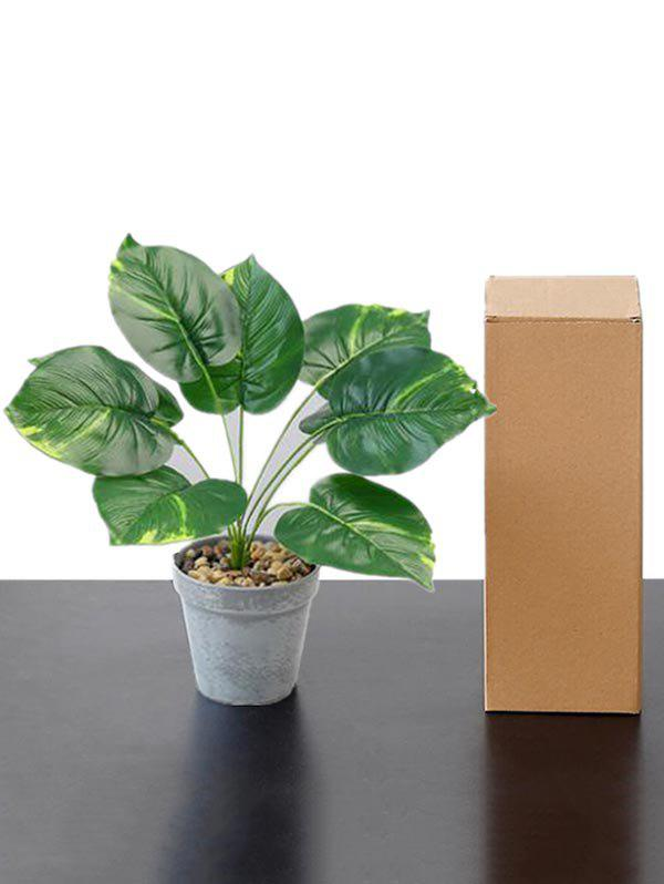 Affordable Home Decor Artificial Plant Potted Palm Leaves
