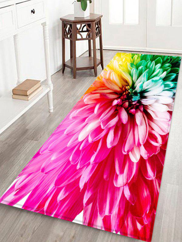 Colorful Flower Pattern Water Absorption Area Rug