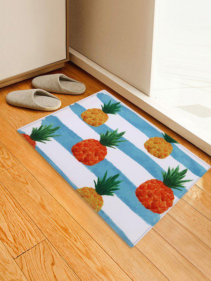 Stripe and Pineapple Pattern Water Absorption Area Rug