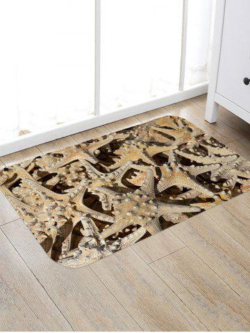 Beach Starfish Patterned Water Absorption Area Rug