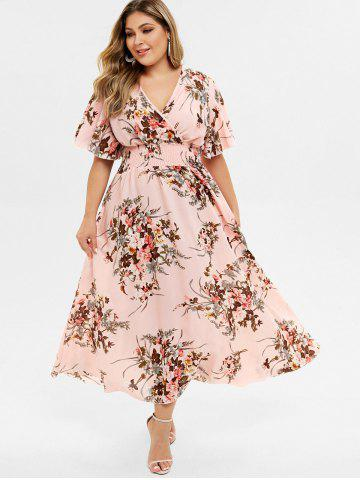Plus Size Bohemian Maxi Floral Dress
