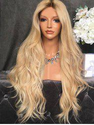 Center Part Body Wave Synthetic Long Wig -