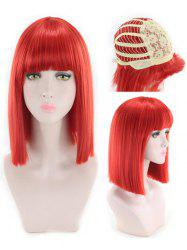 Perruque synthétique Full Bang Medium Straight Cosplay -