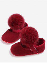 Soft Plush Cute Pom Baby Toddler Shoes -