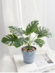 Artificial Plant Potted Palm Leaves Home Decoration -