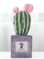 Home Decoration Artificial Plant Potted Ball Cactus Flowers -