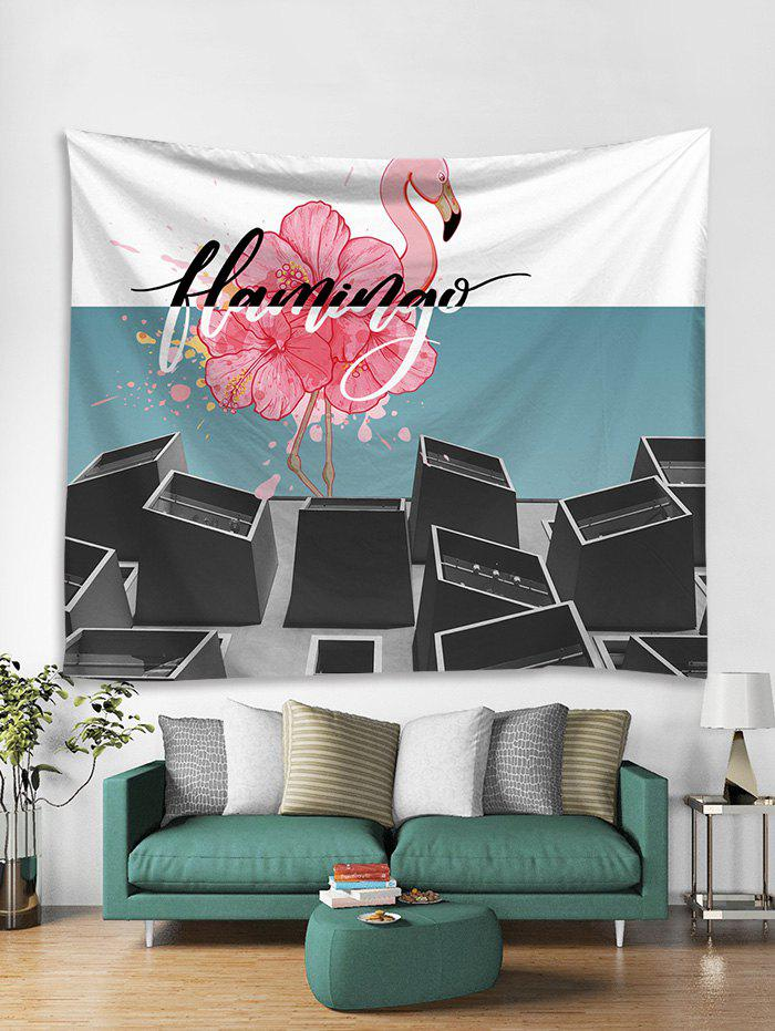 Cheap Flamingo Flower Print Art Decoration Wall Tapestry