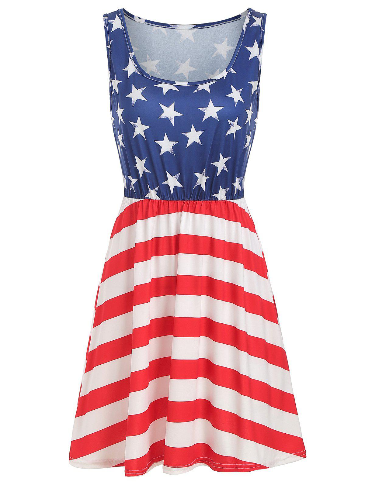 Outfits American Flag Casual Tank Dress