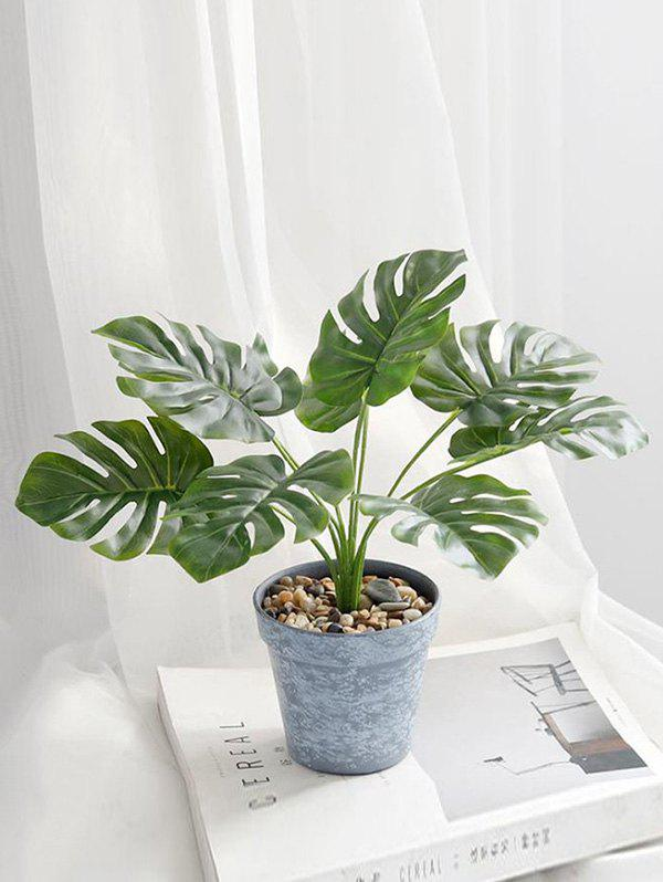 Store Artificial Plant Potted Palm Leaves Home Decoration