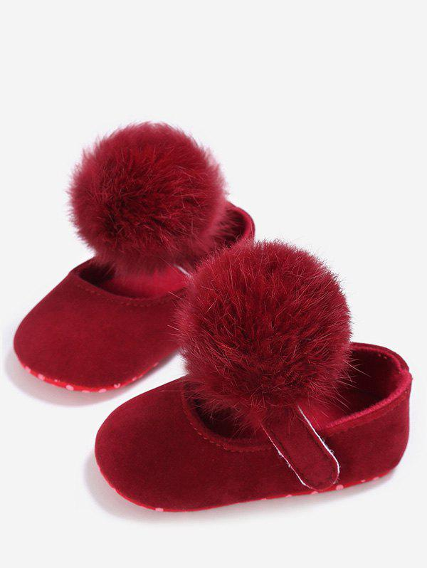 Store Soft Plush Cute Pom Baby Toddler Shoes