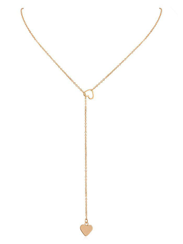 New Hollow Heart Shape Lariat Necklace