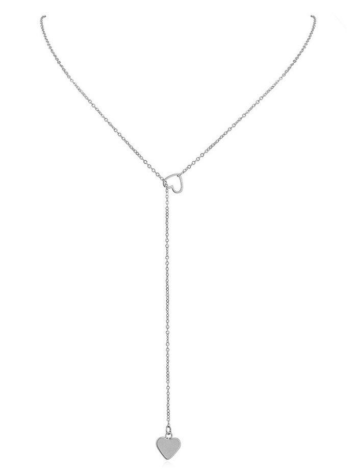 Store Hollow Heart Shape Lariat Necklace
