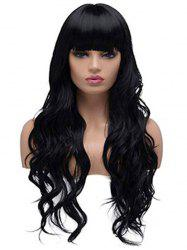 Body Wave Neat Bang Long Synthetic Wig -