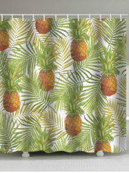 Leaf Pineapple Waterproof Shower Curtain -